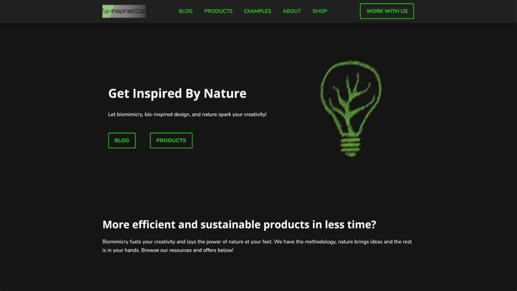 Bio-inspired.com website built and designed by xApption and Julius Launhardt.