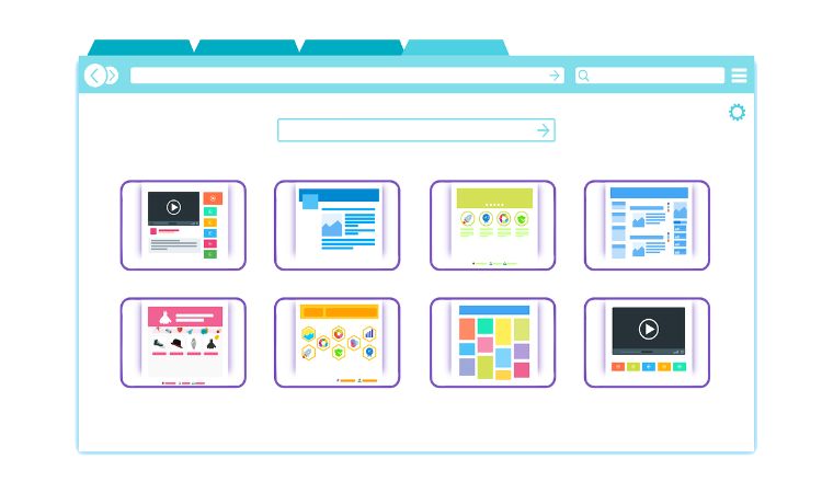 Web design products and tools in browser tab.