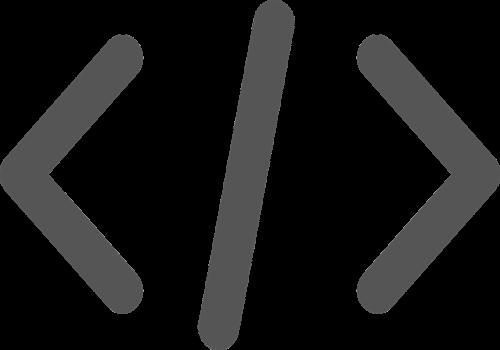 HTML code symbol.