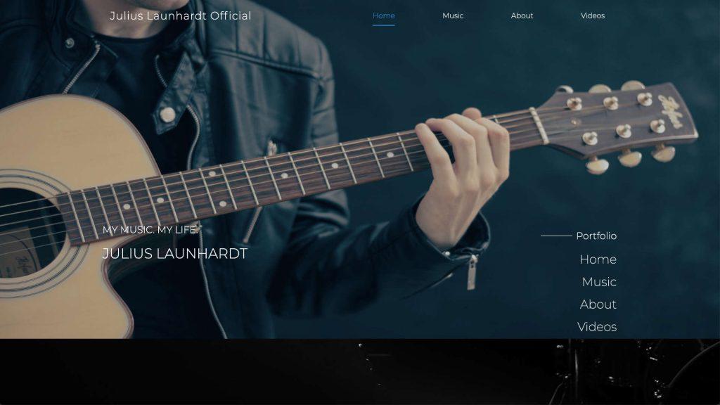 juliuslaunhardt.com website built and designed by xApption and Julius Launhardt.