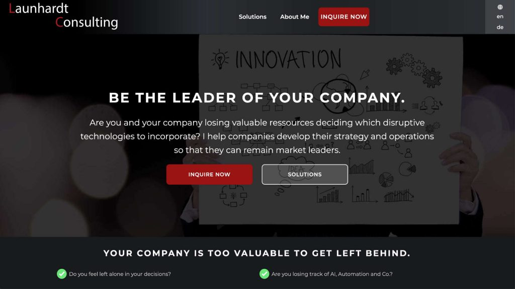 launhardt-consulting.com website built and designed by xApption and Julius Launhardt.