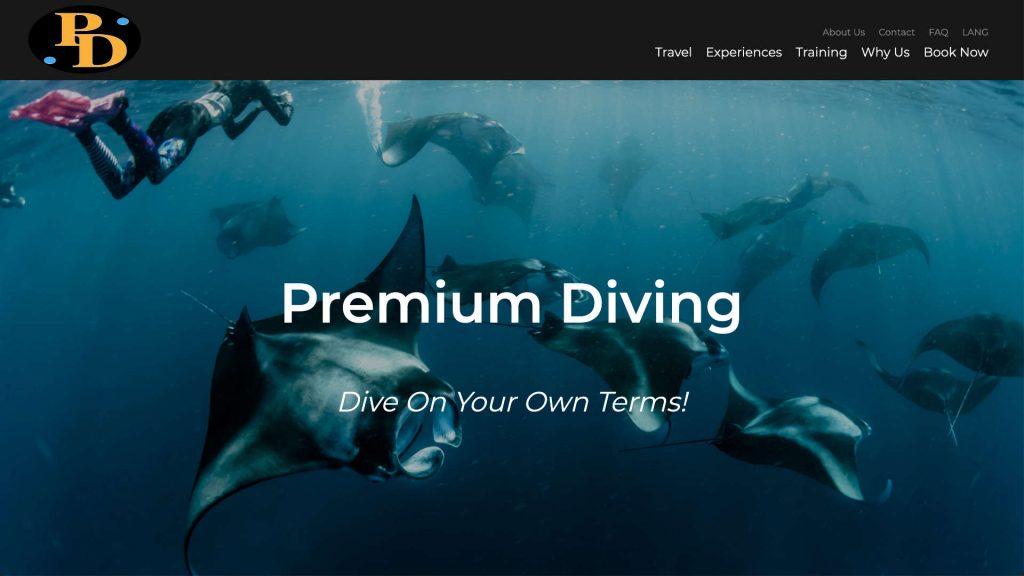premium-diving.com website built and designed by xApption and Julius Launhardt.